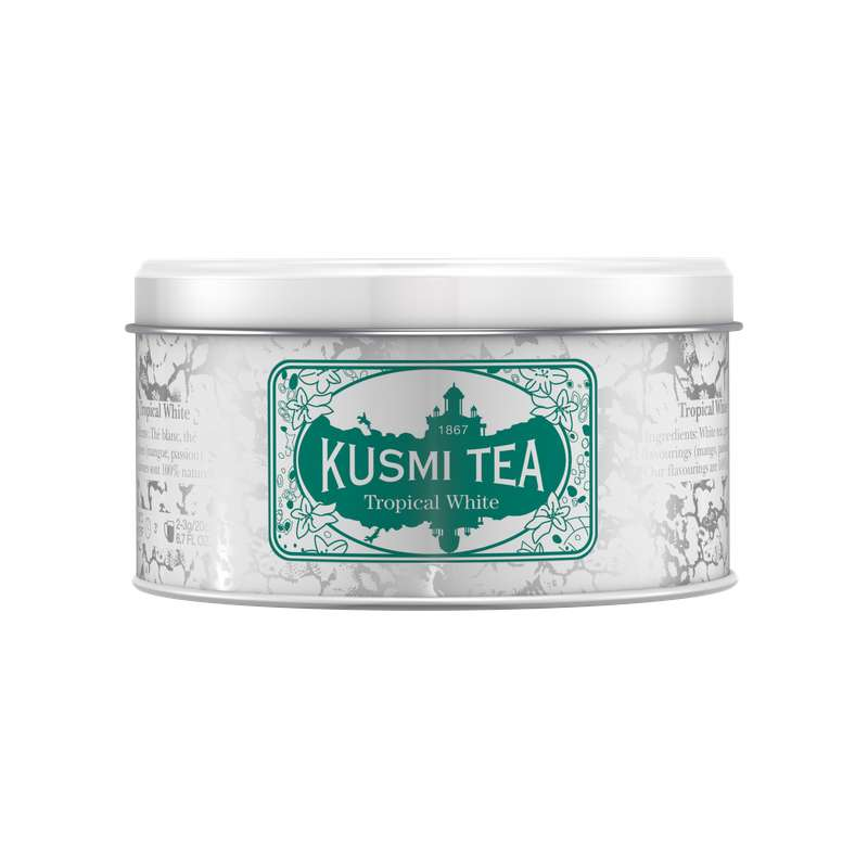 Thé Tropical White boîte métal, Kusmi Tea (90 g)