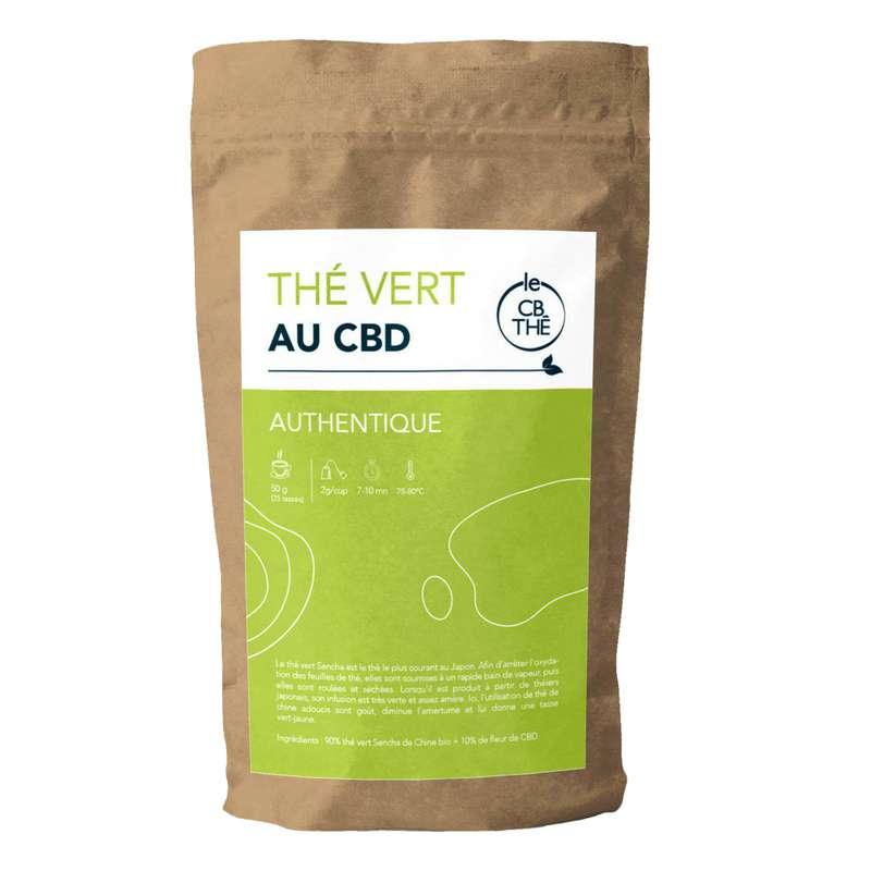 Thé vert 10% d'extrait de fleur de CBD BIO, Le CB Thé (20 g)