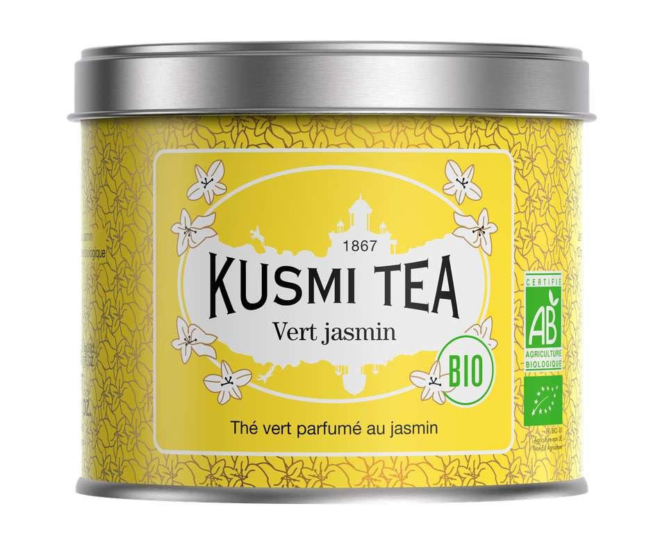 Thé vert au jasmin BIO - boîte métal, Kusmi Tea (90 g)