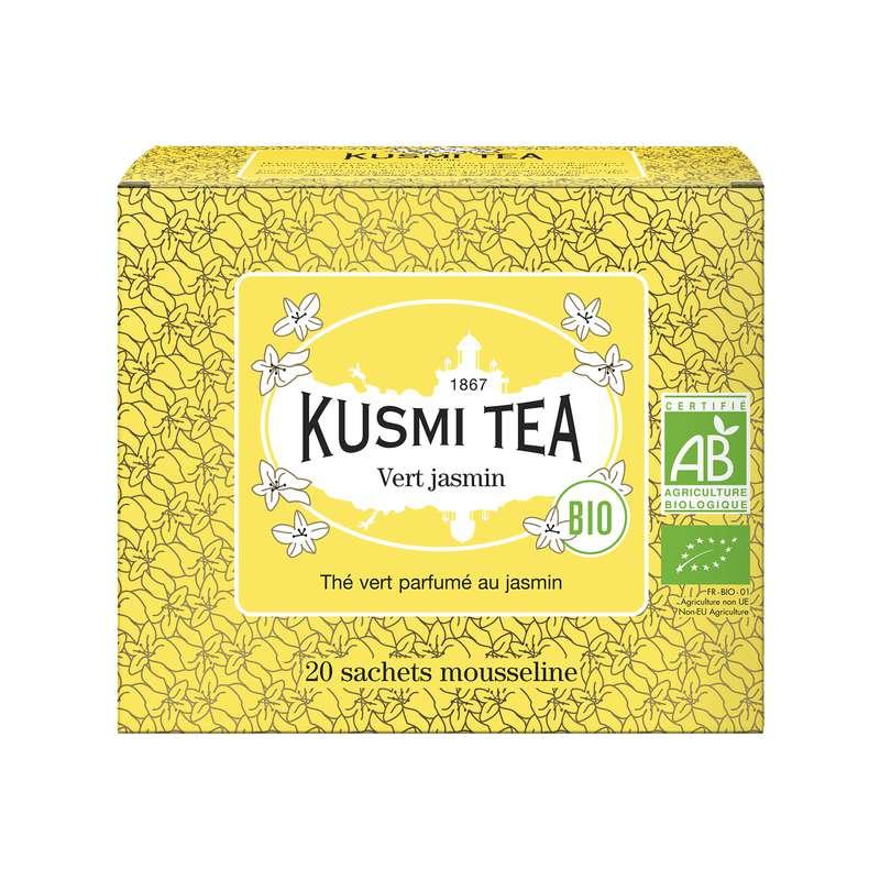 Thé vert au jasmin BIO - étui sachets mousseline, Kusmi Tea (x 20, 40 g)