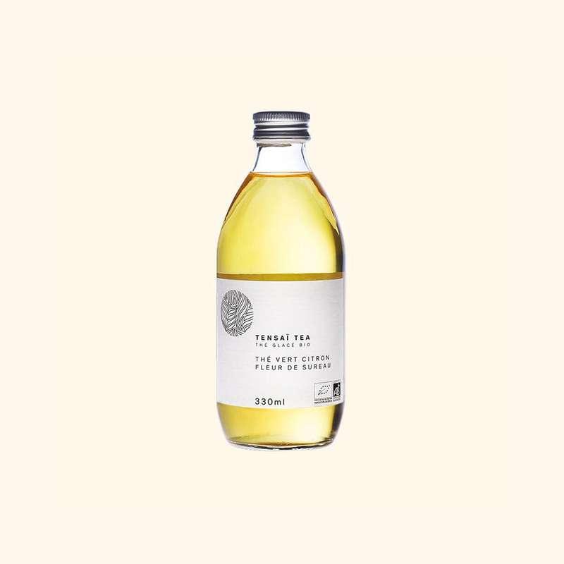 Thé vert Citron et Fleur de Sureau BIO, Tensaï Tea (33 cl)