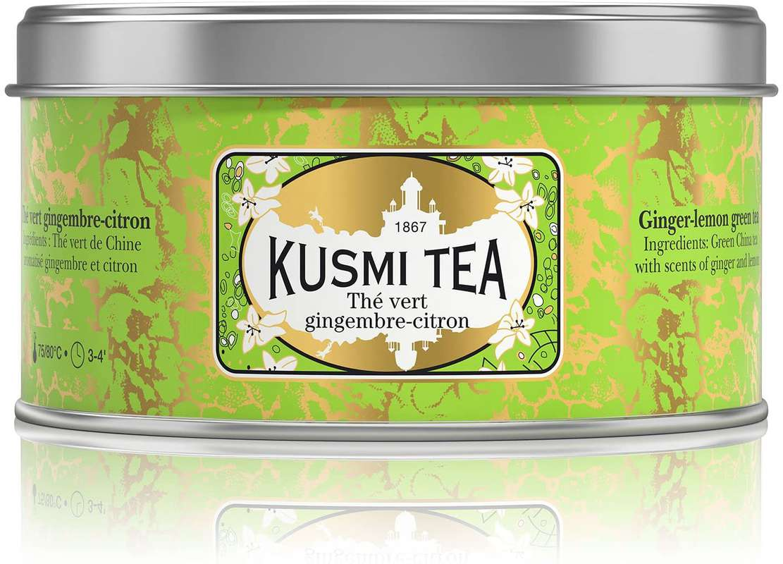 Thé vert gingembre-citron BIO - boîte métal, Kusmi Tea (100 g)