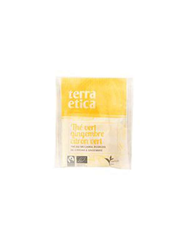 Thé vert gingembre et citron vert BIO, Terra Etica (x 20 infusettes, 36 g)