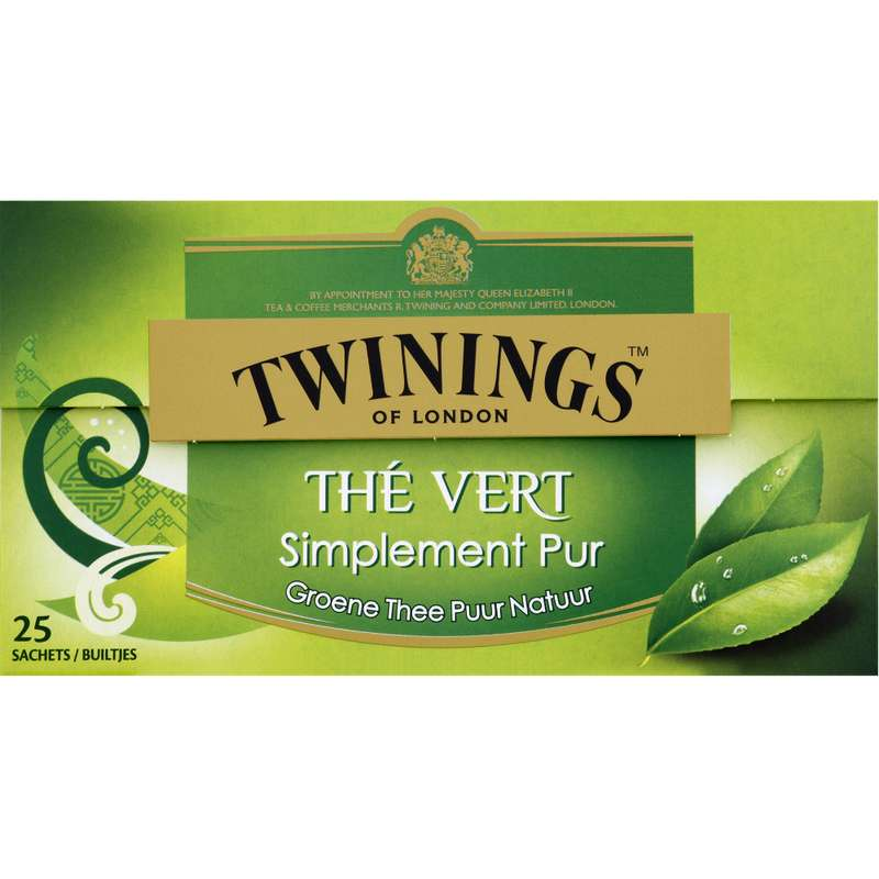 Thé vert nature, Twinings (25 sachets)