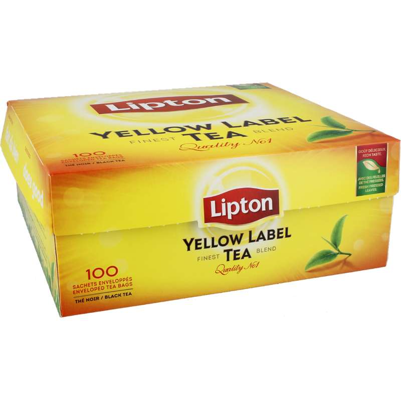 Thé Yellow Label, Lipton (100 sachets)