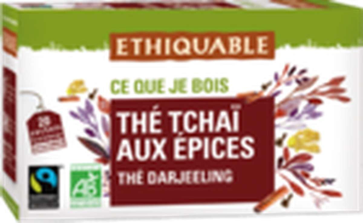 Thé noir Tchaï aux épices BIO, Ethiquable (36 g)