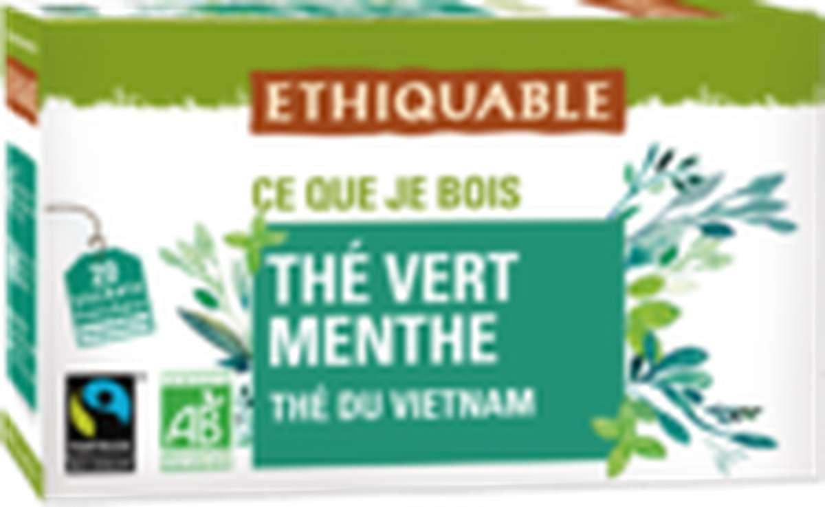 Thé vert à la Menthe BIO, Ethiquable (36 g)