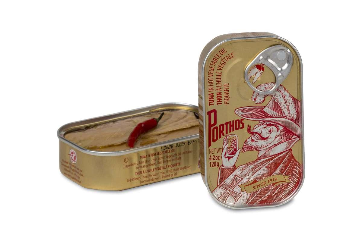 Thon à l'huile végétale picante, Porthos (81 g)