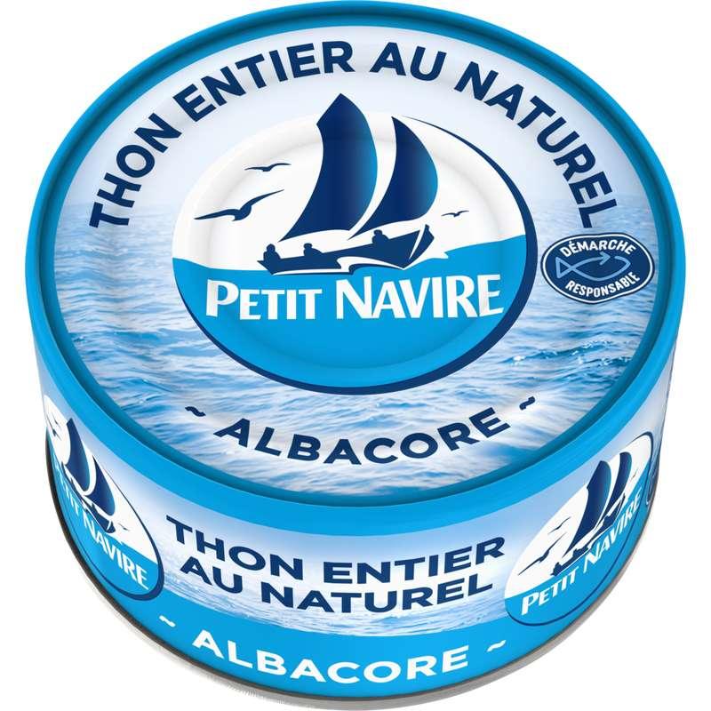 Thon albacore au naturel démarche responsable, Petit Navire (93 g)
