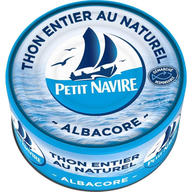 Thon entier albacore au naturel, Petit Navire (140 g)
