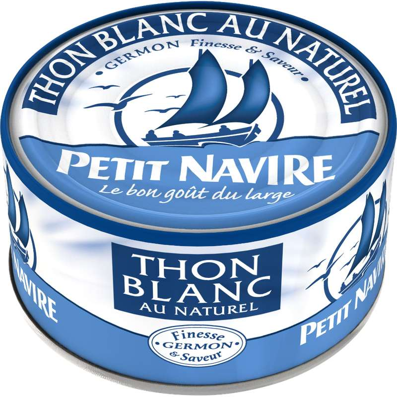 Thon blanc germon au naturel, Petit Navire (140 g)