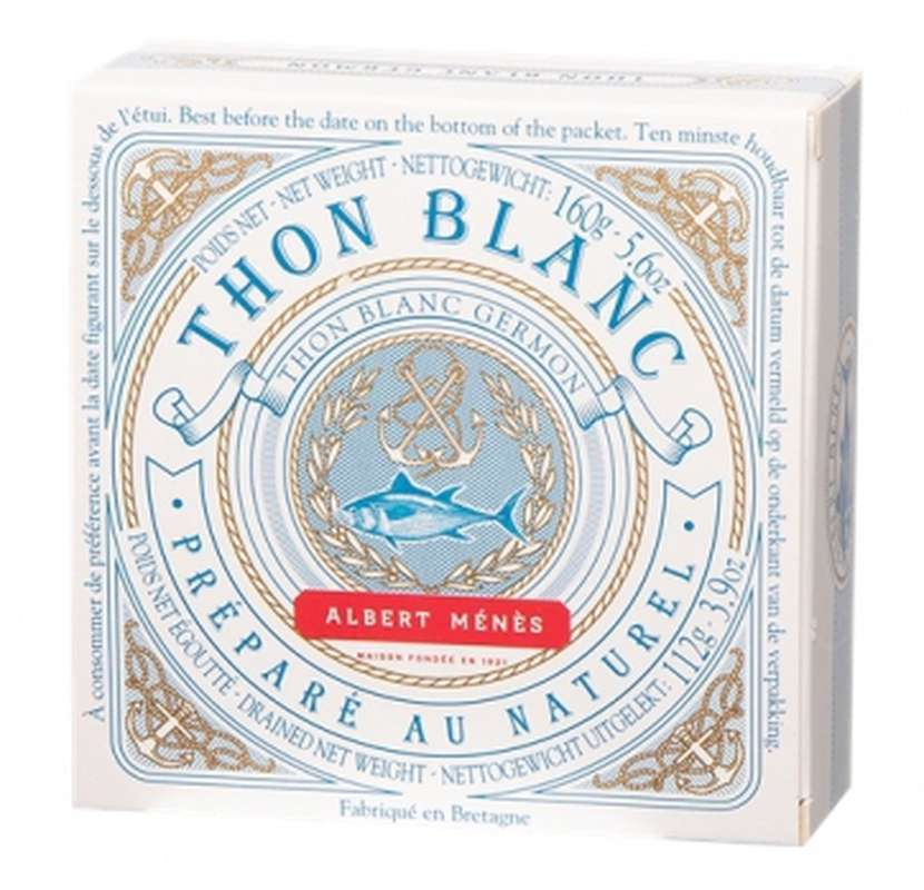 Thon blanc Germon au naturel, Albert Ménès (112 g)
