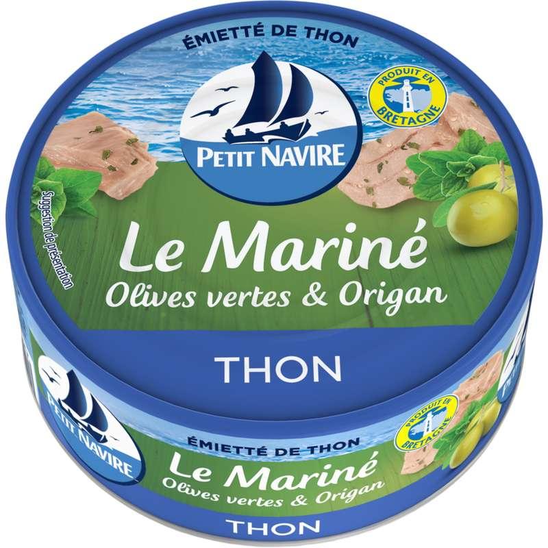 Thon Le mariné olives vertes & origan, Petit Navire (110 g)