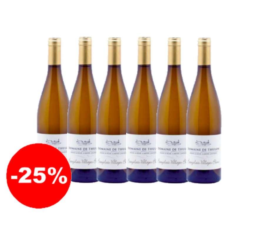 Thulon Blanc - 2019 - AOP Beaujolais Villages Domaine de Thulon (75 cl, caisse de 6)