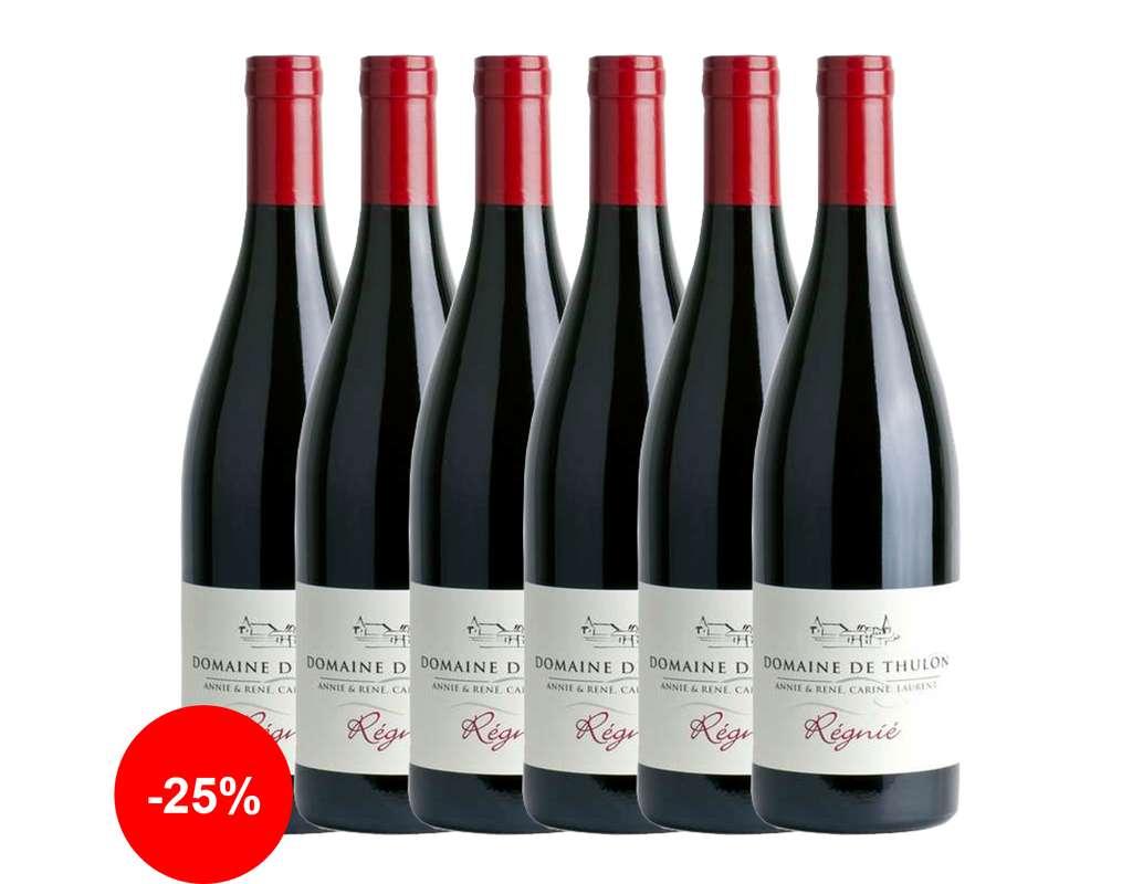 Thulon rouge - 2018 - AOP Régnié Gamay Domaine de Thulon (75 cl, caisse de 6)