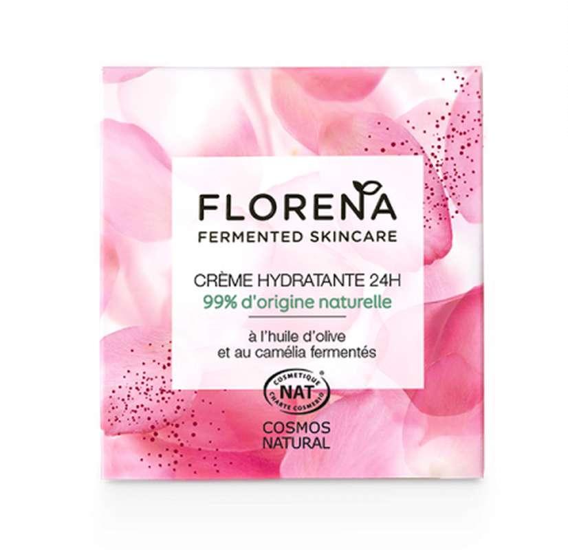 Crème Hydratante 24h à l'huile d'olive et camélia fermenté, Florena (50 ml)