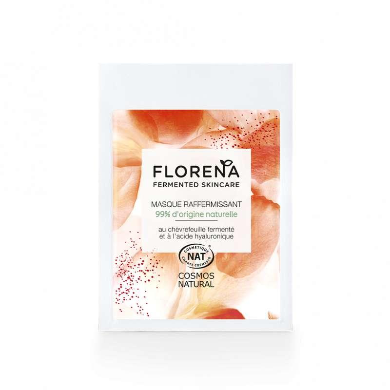 Masque anti-âge raffermissant chèvrefeuille fermenté et acide hyaluronique, Florena (8 ml)