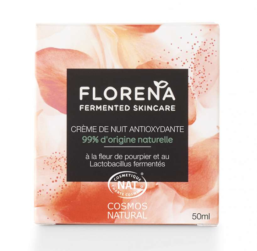 Crème de nuit antioxydante à la fleur de pourpier et Lactobacillus fermentés, Florena (50 ml)