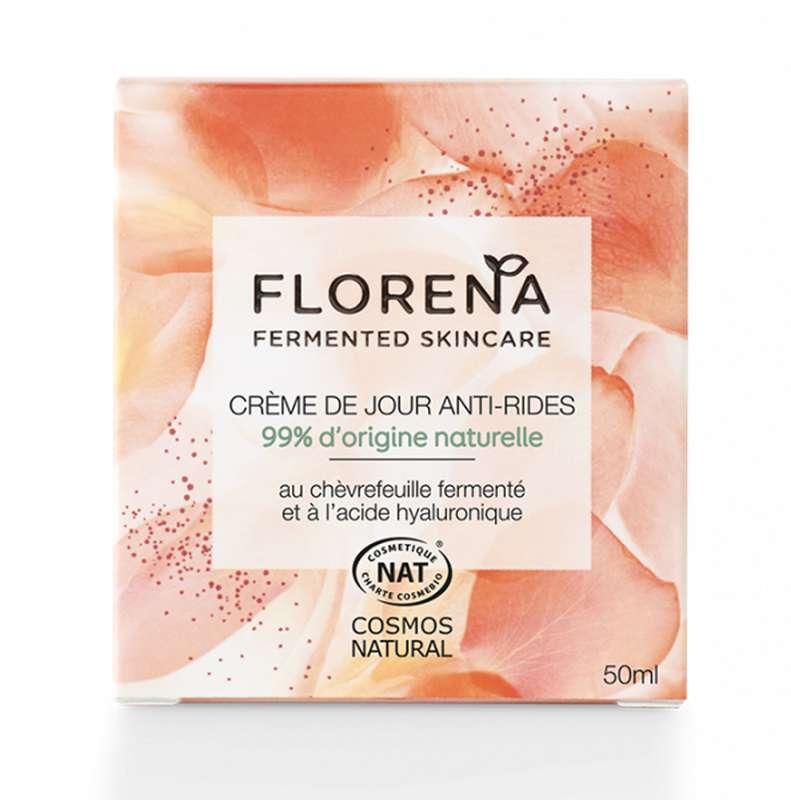 Crème de jour anti-âge au chèvrefeuille fermenté et acide hyaluronique, Florena (50 ml)