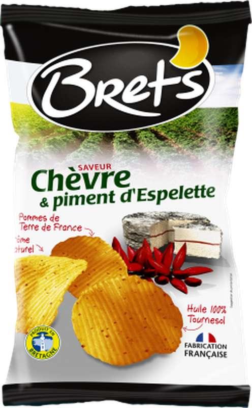 Chips chèvre et piment d'Espelette, Brets (125 g)