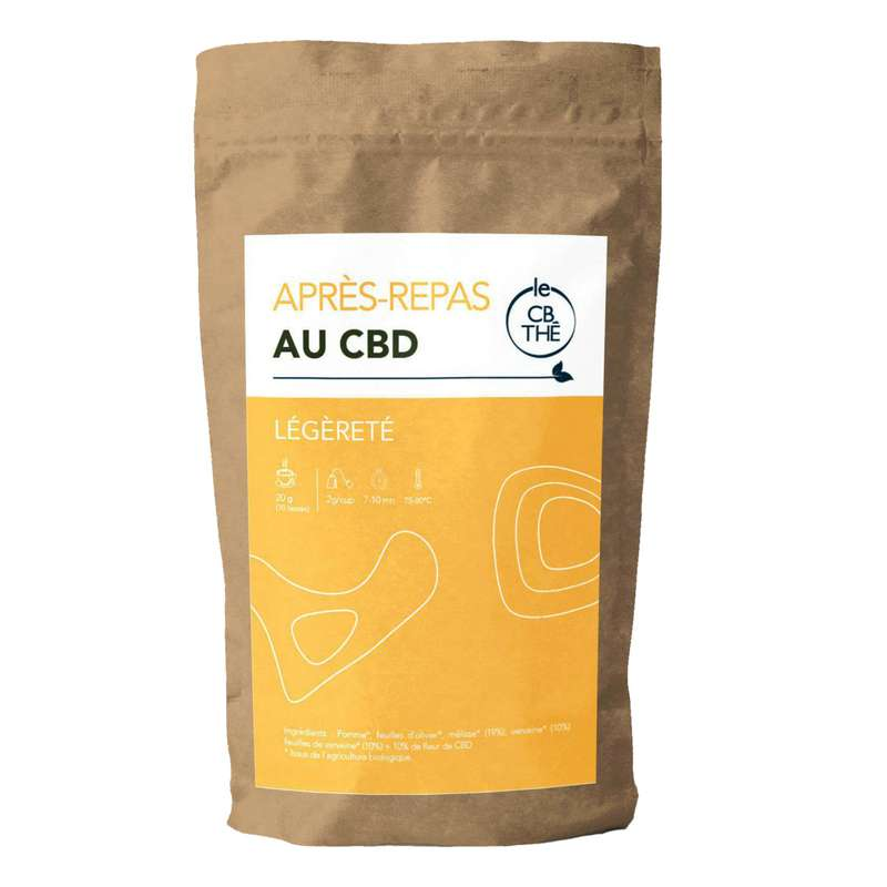Tisane après-repas 10% d'extrait de fleur de CBD BIO, Le CB Thé (20 g)