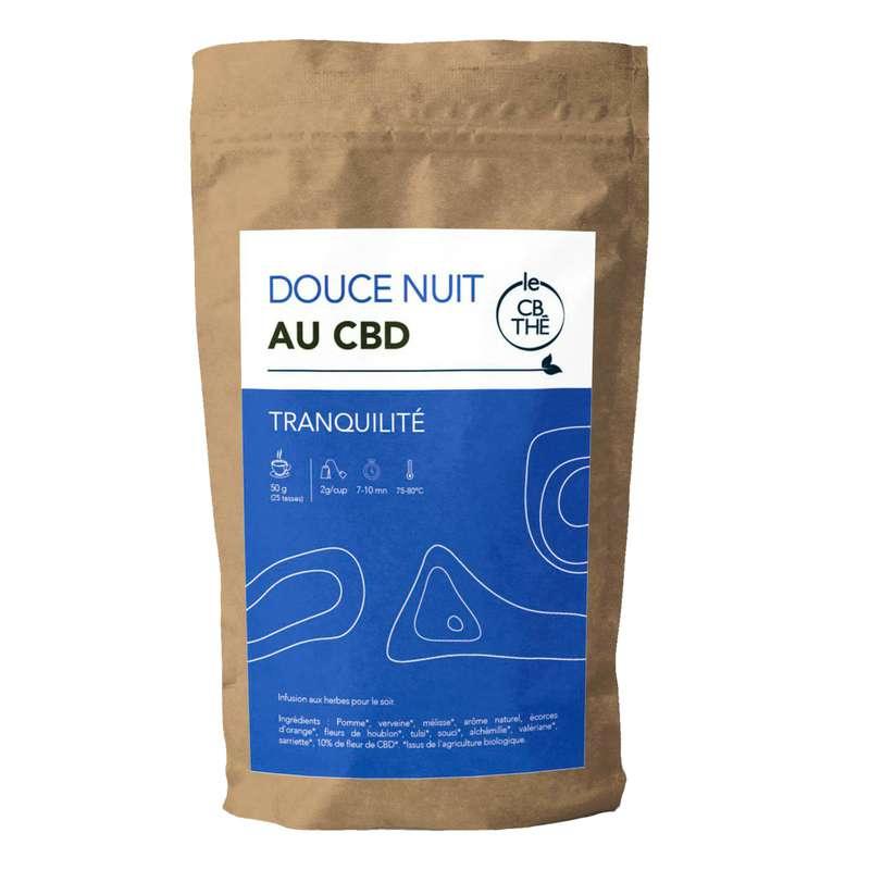Tisane douce nuit 10% d'extrait de fleur de CBD BIO, Le CB Thé (20 g)