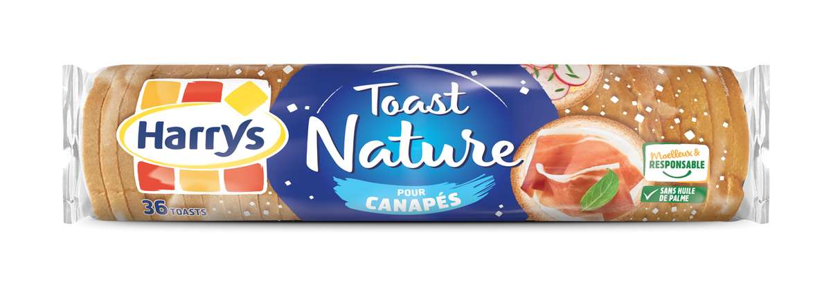 Toasts Canapés ronds natures, Harrys (x 36, 280 g)