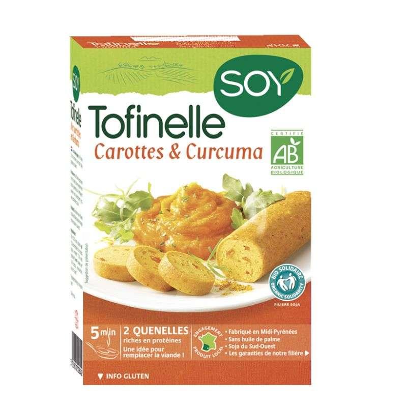 Tofinelle carotte et curcuma BIO, Soy (200 g)
