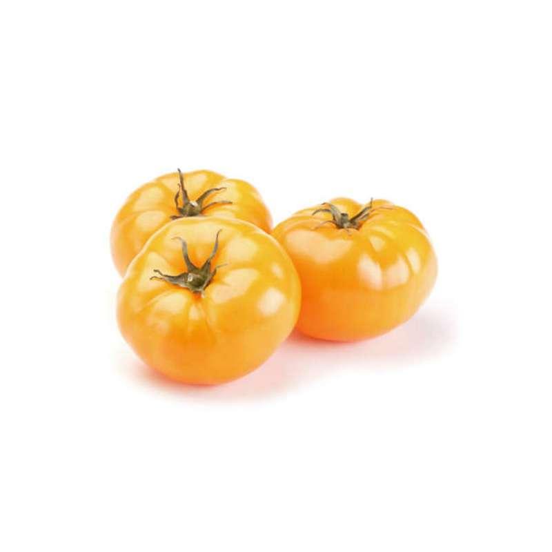 Tomates anciennes côtelées jaunes Ananas BIO, France