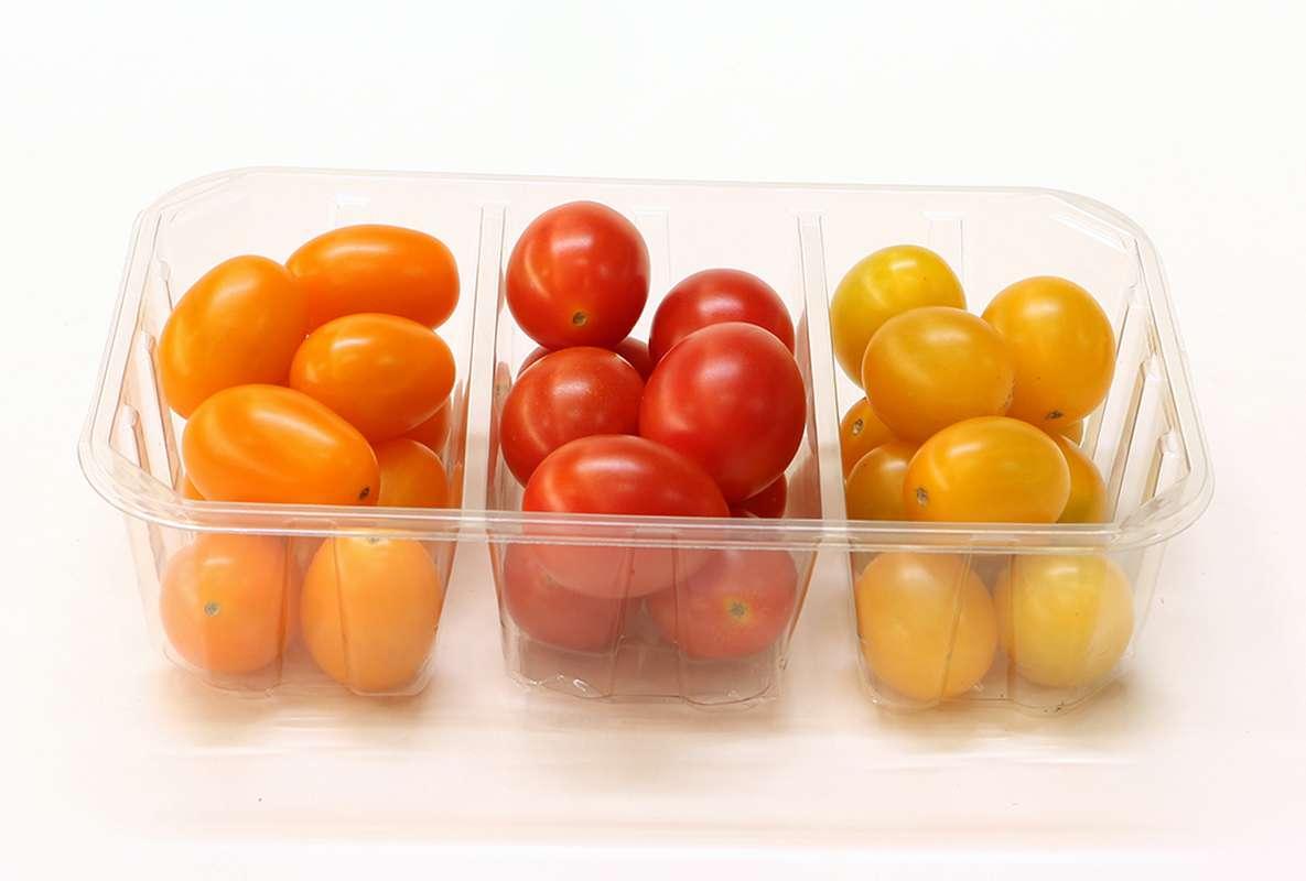 Tomates cerise trimix (barquette de 300 g), Espagne