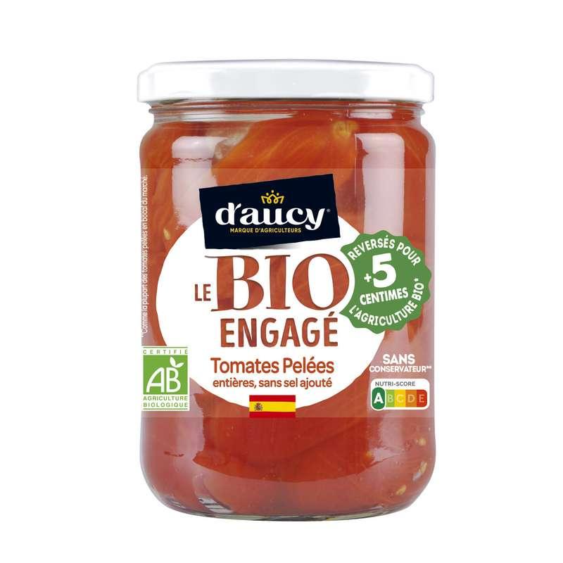Tomates pelées BIO, d'Aucy (500 g)