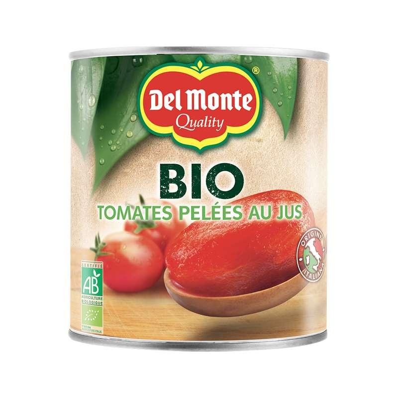 Tomates pelées au jus BIO, Del Monte (800 g)