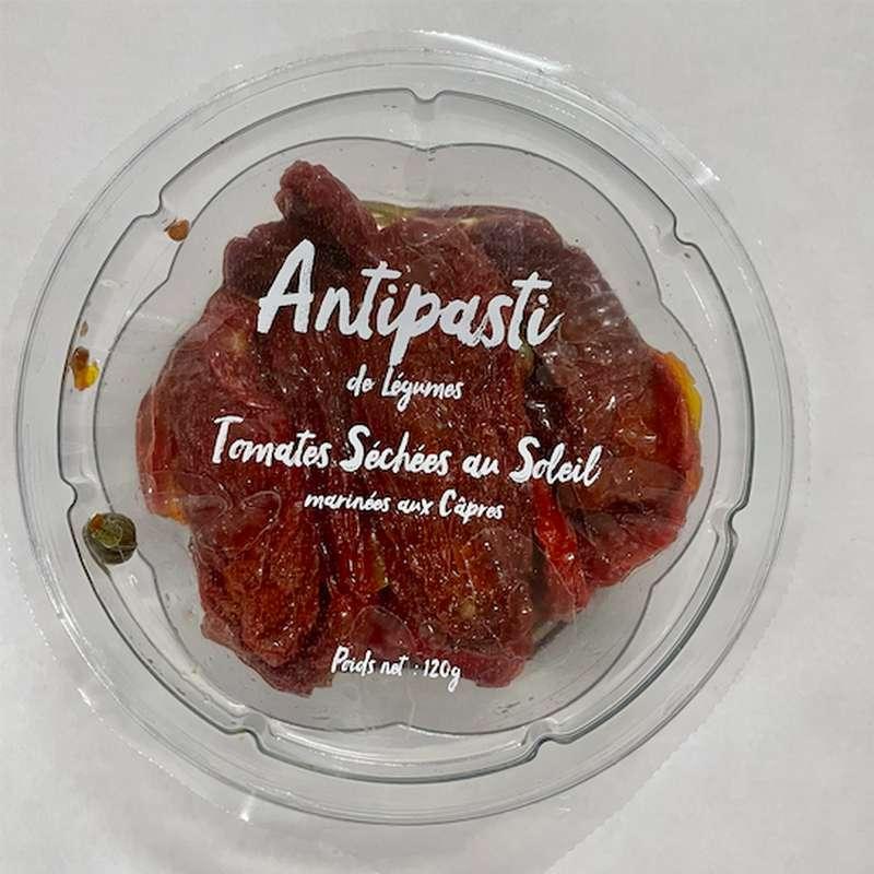 Tomates séchées au soleil marinées aux câpres, Antipasti Bluver (120 g)