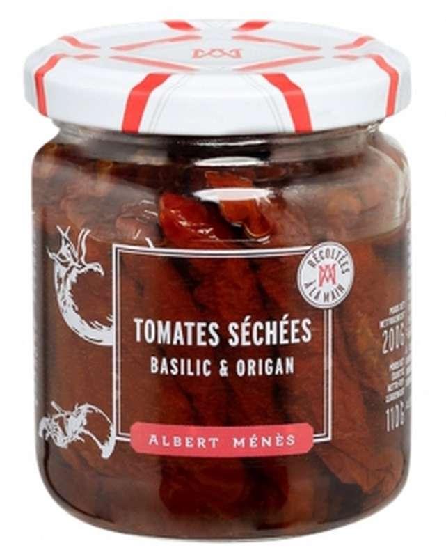 Tomates séchées à l'huile d'olive, basilic et origan, Albert Ménès (110 g)