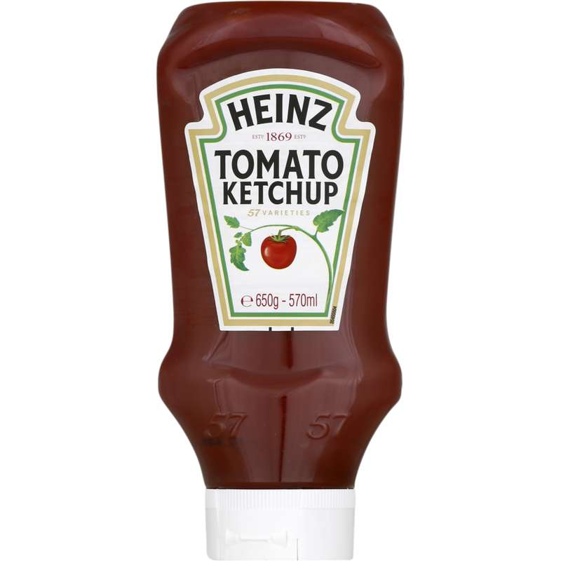 Ketchup top down en flacon, Heinz (650 g)