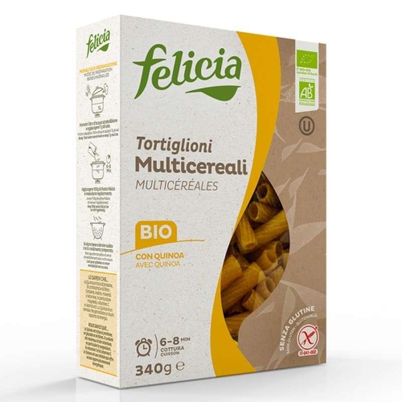 Tortiglioni 4 céréales BIO et sans gluten, Felicia (340 g)