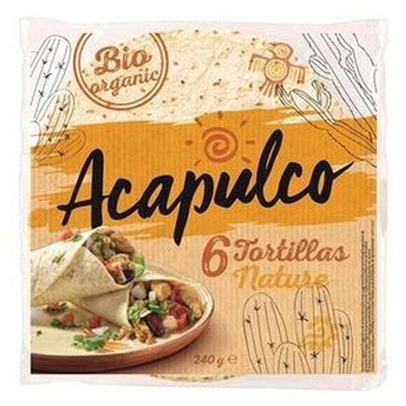 Tortilla wraps de blé BIO, Acapulco (x 6, 240 g)