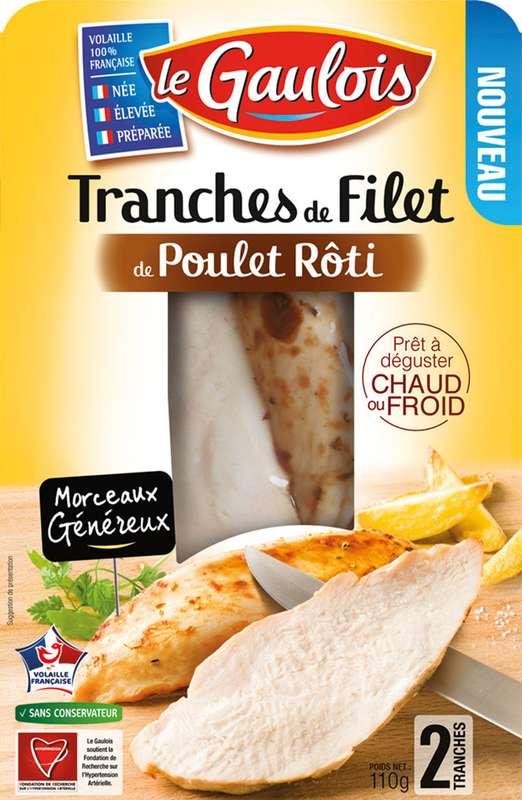 Filet de poulet rôti en tranche, Le Gaulois (x 2, 110 g)