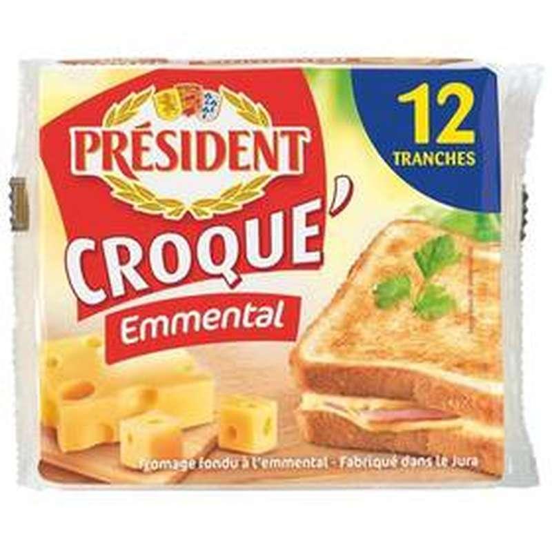 Tranchettes Croque Emmental, Président (x 12, 200 g)