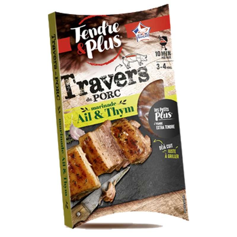 Travers de porc marinade Ail et Thym, Tendre & Plus (550 g)