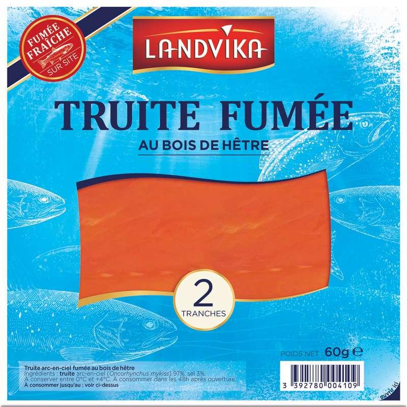 Truite fumée, Landvika (2 tranches, 60 g)