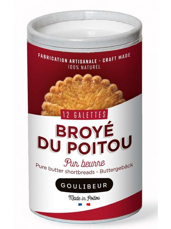 Tube 12 galettes pur beurre, Goulibeur (220 g)