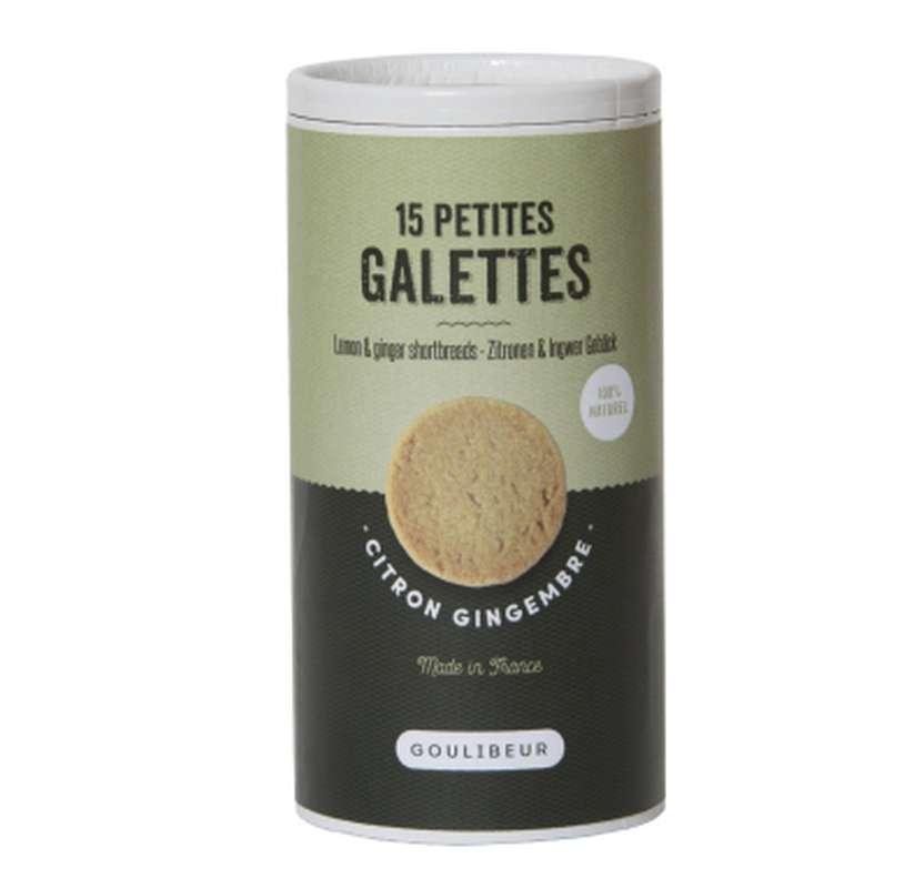 Tube 15 petites galettes citron & gingembre, Goulibeur (150 g)