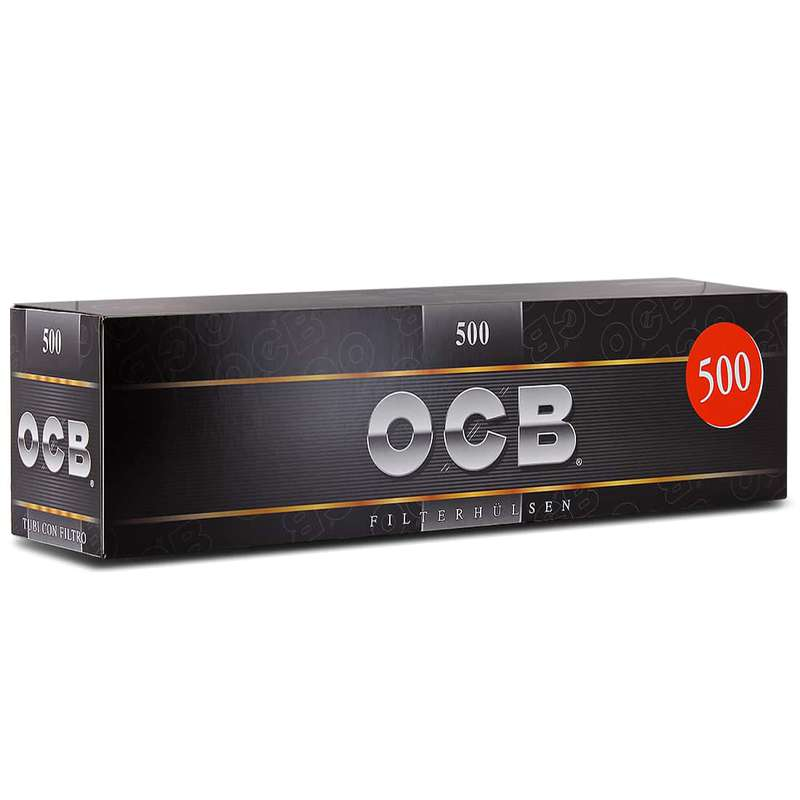 Tubes avec filtre, OCB (x500) (gros calibre)