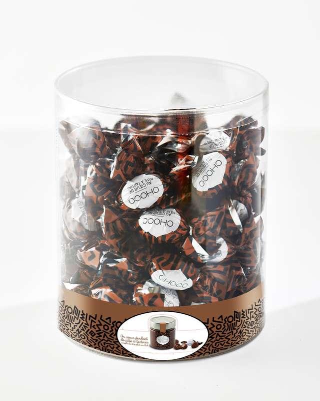 Tubo Œufs chocolat au lait fourrés noisettes (500 g), Schaal Chocolatier