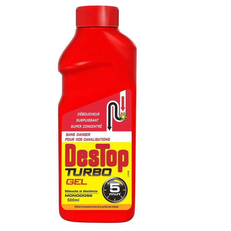 Gel liquide Turbo 5mn avec javel, Destop (500 ml)