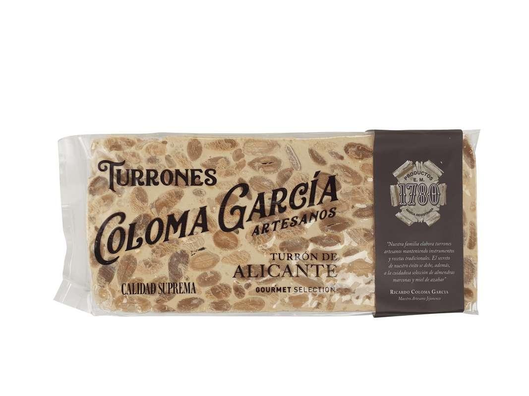 Turron gourmet d'Alicante IGP, Coloma Garcia (200 g)