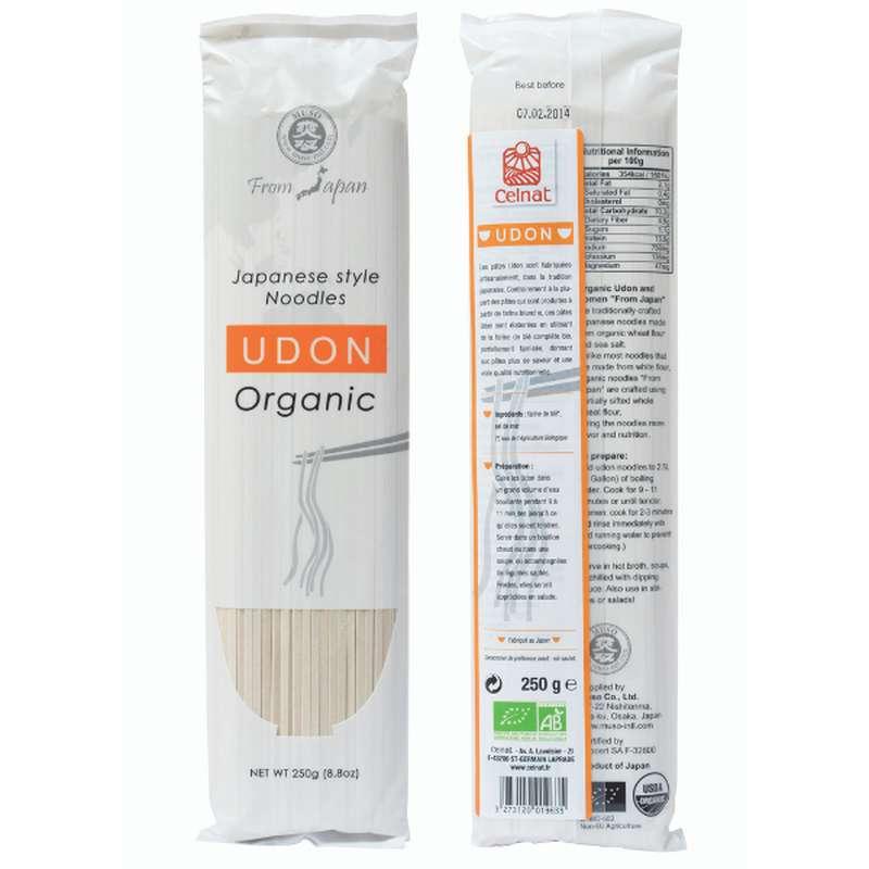 Udon (pâtes japonaises au blé dur) BIO, Celnat (250 g)
