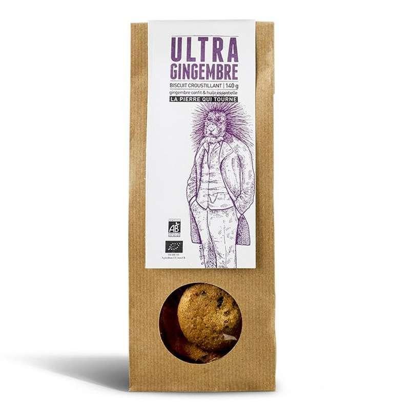 Biscuit croustillant Ultra Gingembre BIO, La pierre qui tourne (140 g)