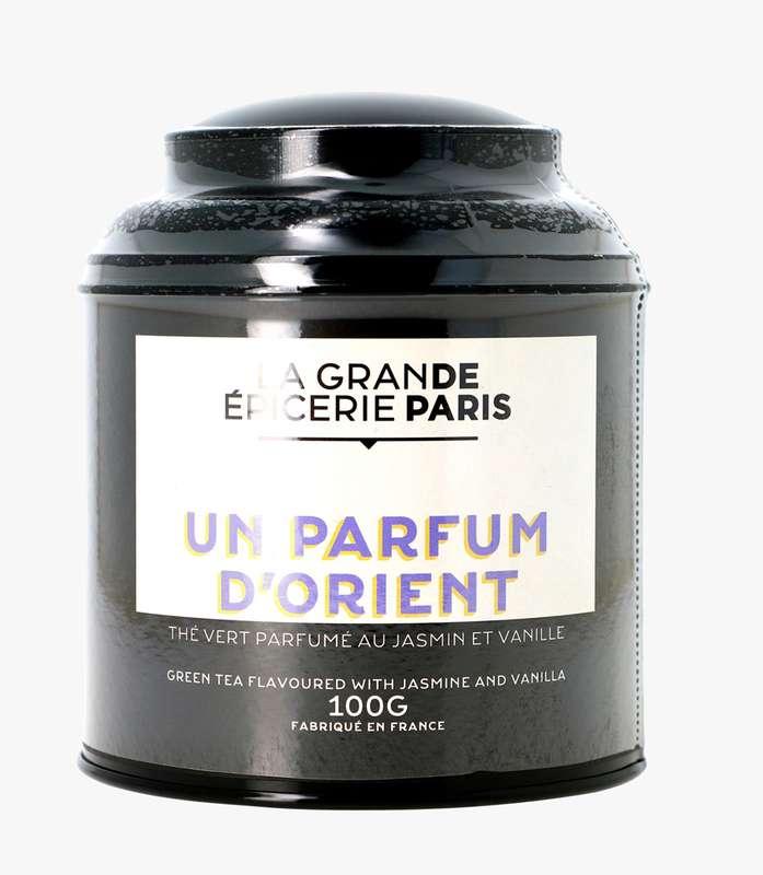 Thé vert Un Parfum d'Orient aromatisé au jasmin et vanille, La Grande Epicerie de Paris (100 g)